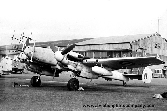 Captured German Air Force Messerschmitt Bf110G-4 AM-30/730037 (1945)