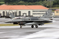 Pakistani Air Force 5 Squadron General Dynamics F-16D Fighting Falcon 10803 at Lajes (2016)