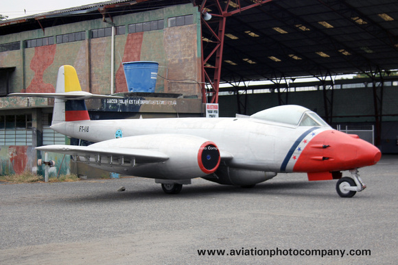 Ecuadorian Air Force Gloster Meteor FT-118 preserved at Taura (2014)