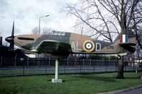 RAF Hawker Hurricane Replica L1710 displayed at Biggin Hill (1993)