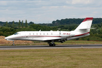 Cartier Europe BV Cessna 680 Citation Sovereign PH-RLG at Luton (2015)