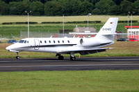 E-Aviaton Cessna 680 Citation Sovereign D-CHEC at Prestwick (2016)