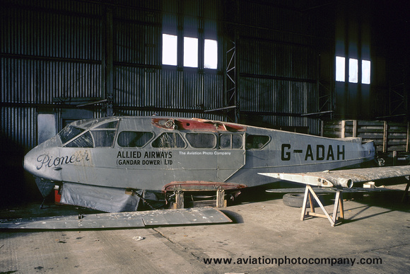 Allied Airways (Gandar Dower) Ltd De Havilland Dragon Rapide G-ADAH (1967)