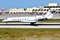 M. Square Aviation Ltd/Global Aviation Gulfstream G550 M-SQAR at Malta Luqa IAP (2017)