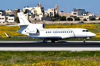 Abelag Aviation Dassault Falcon 7X OO-LMG at Malta Luqa (2017)