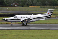 Pilatus PC-12/47E T7-PBL at Prestwick (2017)