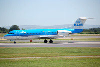 KLM Cityhopper Fokker F-70 PH-KZI at Manchester (2006)