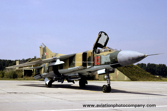 Hungarian Air Force Mikoyan MiG-23MF 03 (1991)