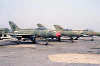 East German Air Force Mikoyan MiG-21 605 stored at Kamenz (1991)