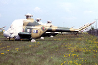 East German Air Force Mil Mi-2S 504 stored at Schoenfeld