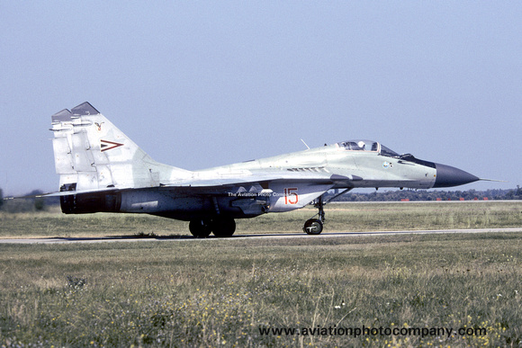 Hungarian Air Force Mikoyan MiG-29 Fulcrum 15 (2003)