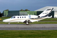 AMC Aviation Cessna 525 CittationJet CJ1 SP-AST at Manchester (2017)