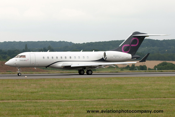 Zetta Jet Bombardier Bombardier Global 5000 N588ZJ at Luton (2017)