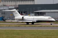 Bombardier Global Express 9H-III at Luton (2017)