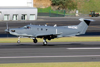 Afghan Air Force Pilatus PC-12NG N442NG on delivery through Lajes (2014)