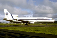 Worldways Canada Lockheed Tristar C-GIES at Prestwick (1986)