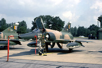 Belgian Air Force 42 Sml Dassault Mirage 5BR BR-04 at the Tactical Air Meet RAF Wildenrath (1978)