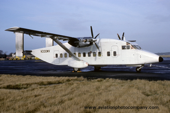 Short SD-330 N330MV at Prestwick (1987)