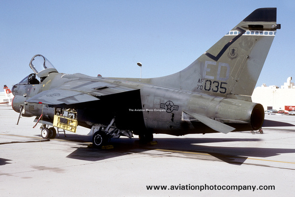 USAF 6512th Test Squadron LTV A-7D Corsair 70-1035/ED at Edwards AFB (1990)