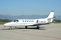 Blueaeor Sarl La Rochelle Cessna 550 Citation II F-HDGT at Geneva (2007)
