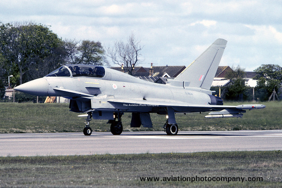 RAF BAE Typhoon T.1 ZJ804 at Warton (2005)