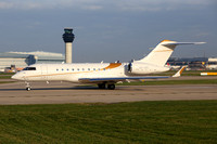 TAG Aviation Bombardier Global 5000 9H-VBG at Manchester (2018)