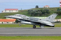 Pakistani Air Force 5 Squadron General Dynamics F-16D Fighting Falcon 10804 at Lajes (2016)