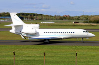 Air Alsie Dassault Falcon 7X OY-EJD at Prestwick (2015)