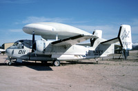 US Navy VAW-207 Grumman E-1B Tracer 147227/ND-011 at the Pima County Museum (1984)