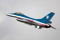 Royal Norwegian Air Force GD F-16AM 686 100 Years colour scheme at NATO Tiger Meet 2012 Orland