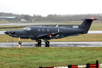 Afghan Air Force Pilatus PC-12NG 1392 on delivery at Prestwick (2013)