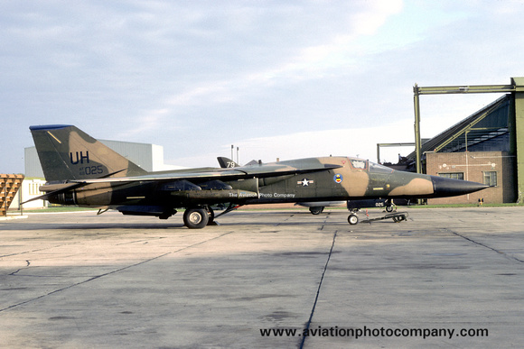 The Aviation Photo Company: F-111/EF-111 Aardvark/Raven (General Dynamics) &emdash; USAF 20 TFW 55 TFS GD F-111F 68-0025/UH at RAF Lossiemouth (1983)