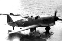 Royal Navy Fairey Firefly I Prototype Onboard Carrier