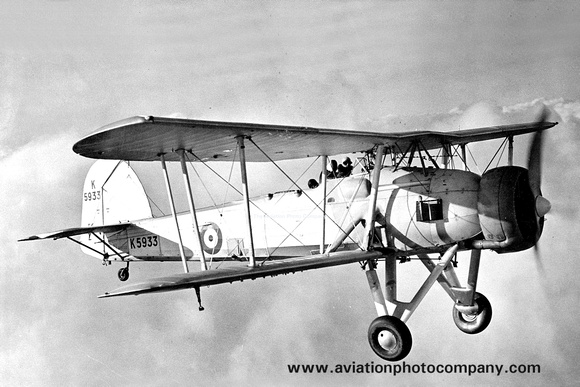 The Aviation Photo Company: Fairey Other Types &emdash; Royal Air Force Fairey Swordfish K5933 Air to Air
