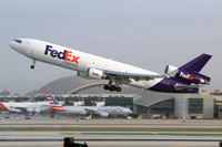 FedEx McDonnell Douglas MD-11F N587FE at Los Angeles IAP (2014)