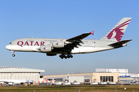 Qatar Airways Airbus A380-800 A7-APC at London Heathrow (2015)