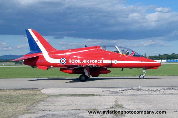 The Aviation Photo Company: Latest Additions &emdash; RAF Red Arrows Hawker Siddeley Hawk T.1 XX242 at the Salon Airshow (2013)