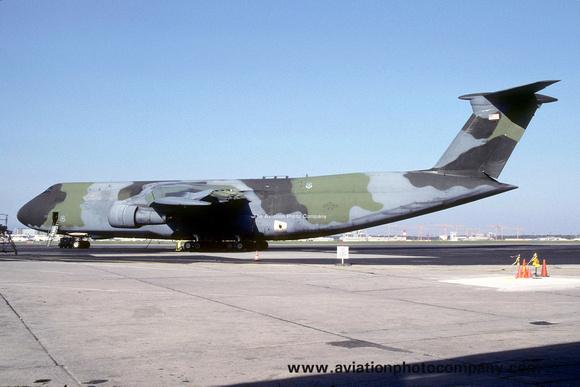 The Aviation Photo Company: C-5 Galaxy (Lockheed) &emdash; USAF 60 MAW Lockheed C-5B Galaxy 87-0032 at Rhein Main (1990)
