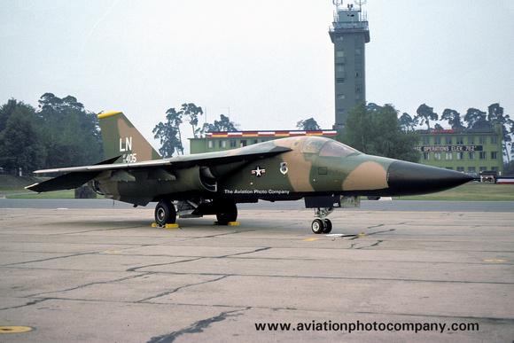 The Aviation Photo Company: F-111/EF-111 Aardvark/Raven (General Dynamics) &emdash; USAF 48 TFW 493 TFS GD F-111F 70-2405/LN (1977)