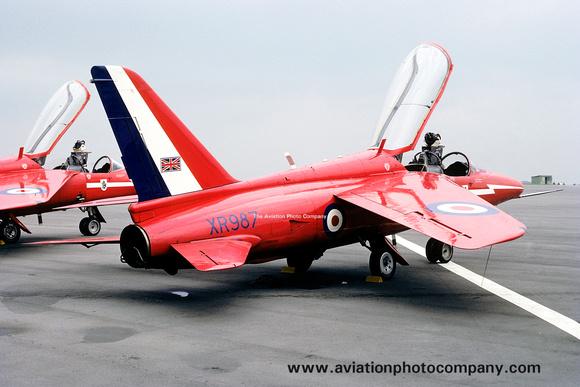 The Aviation Photo Company: Latest Additions &emdash; RAF Red Arrows Folland Gnat T.1 XR987 (1968)