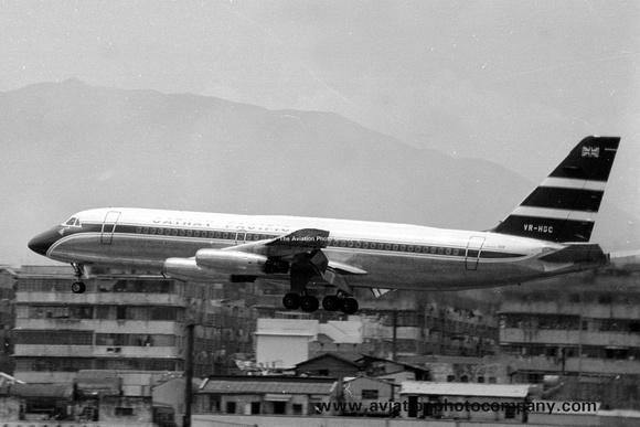 The Aviation Photo Company: Latest Additions &emdash; Cathay Pacific Convair 880 VR-HGC at Hong Kong (1969)