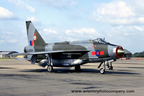 The Aviation Photo Company: 5 Squadron &emdash; RAF 5 Squadron English Electric Lightning F.6 XR724 (1979)