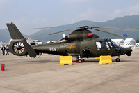Chinese Air Force Harbin Z-9 6067 at Zhuhai (2012)