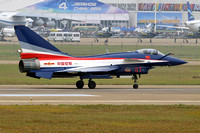 Chinese AF August 1st Team Chengdu J-10AY 07 at China Airshow 2012 Zhuhai