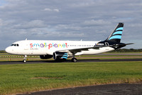 Small Planet Airlines Airbus A320-200 LY-ONJ at Manchester IAP (2016)