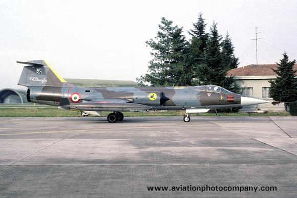 The Aviation Photo Company: Latest Additions &emdash; Italian Air Force 3 Stormo Lockheed F-104G Starfighter MM6576/3-45 (1988)