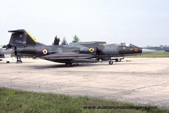 The Aviation Photo Company: Latest Additions &emdash; Italian Air Force 3 Stormo Lockheed F-104G Starfighter MM6598/3-34 (1987)