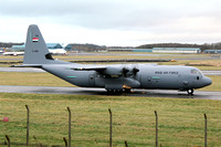 Iraqi Air Force Lockheed C-130J-30 Hercules YI-306 at Prestwick (2012)