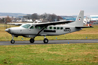 Afghanistan Air Force Cessna 208B N95421 on delivery through Prestwick (2012)