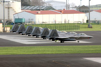 USAF 3rd Wing Lockheed F-22A Lineup at Lajes (2013)